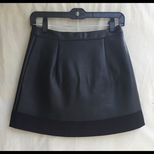 L.A.M.B. Faux Leather Wrap Around Skirt Size 2